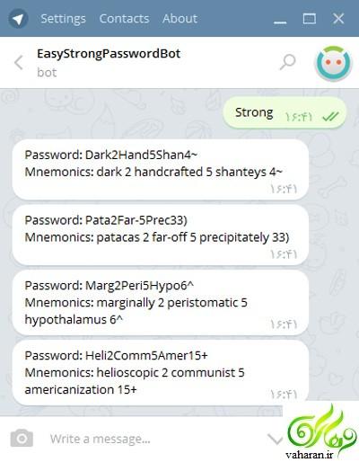 آموزش ساخت رمز قوی با تلگرام + عکس