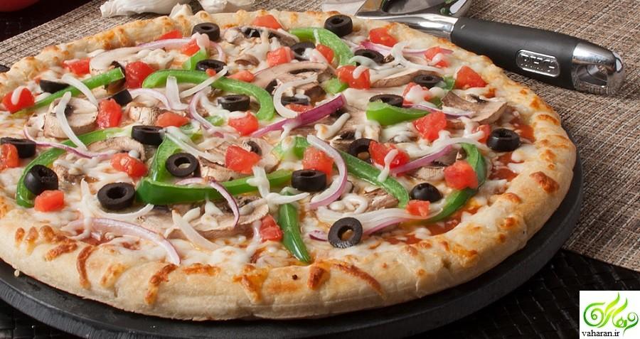 روش تهیه پیتزا گیاهی با گل کلم