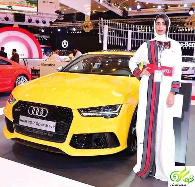 عکسهای جنجالی دختران در عربستان برای تبلیغ خودرو