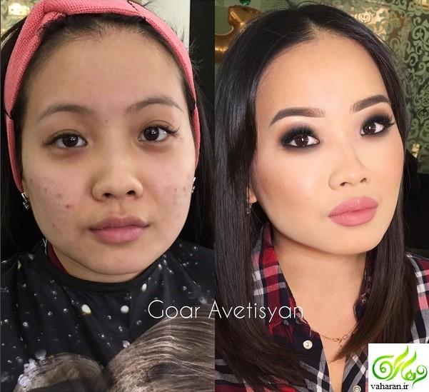 عکسهای دیدنی قبل و بعد از آرایش صورت