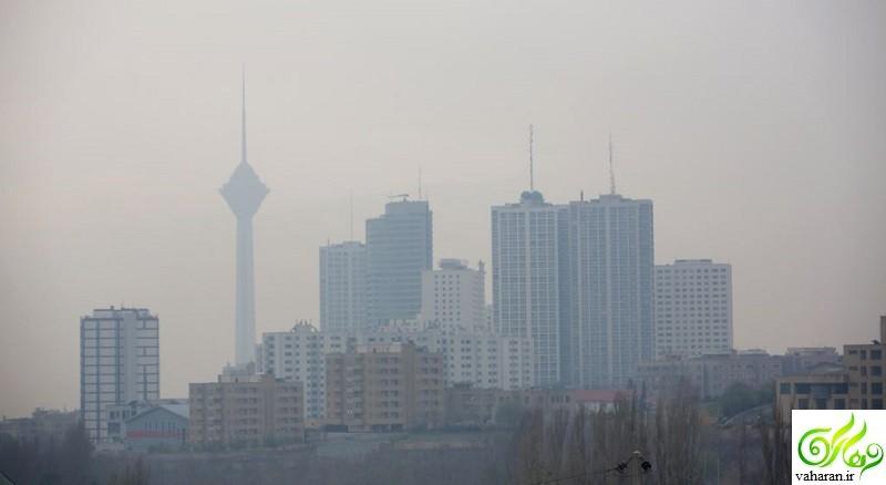 افزایش آلودگی هوای تهران از فردا دوشنبه 2 اسفند 95