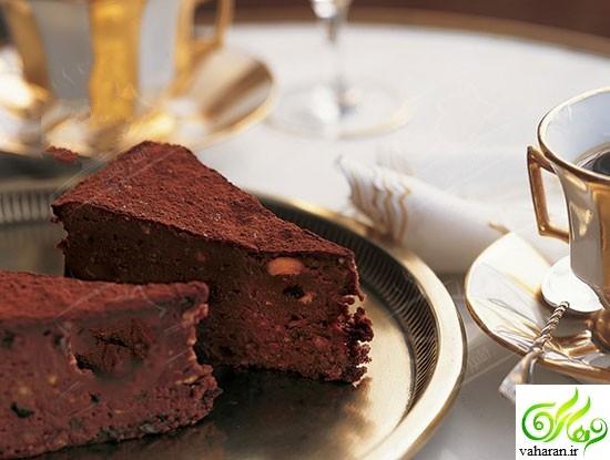 آموزش تهیه کیک شکلاتی بدون آرد