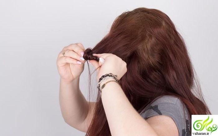 آموزش فر کردن مو در خانه با دستمال کاغذی + تصاویر