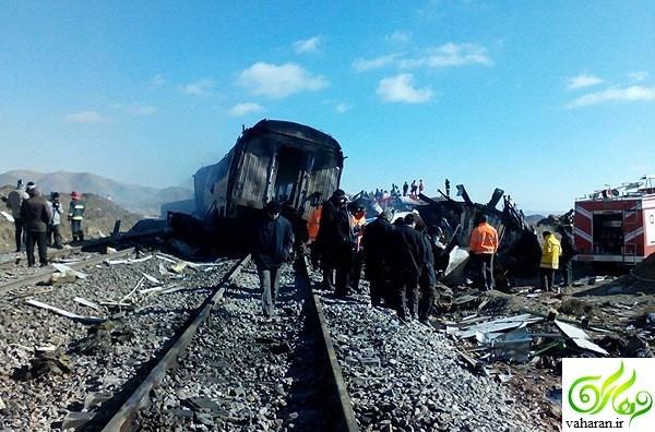 اخبار جدید از آمار کشته شدگان تصادف قطار سمنان ۶ آذر ۹۵