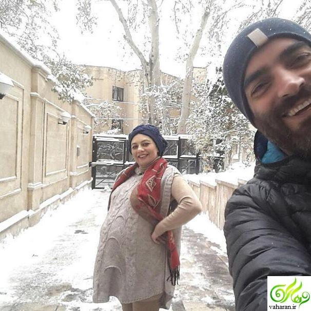 جدیدترین عکس بارداری یکتا ناصر در روزهای برفی تهران آذر 95