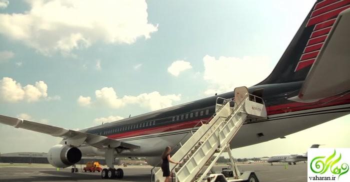 عکسهای بی نظیر هواپیمای شخصی دونالد ترامپ را ببینید