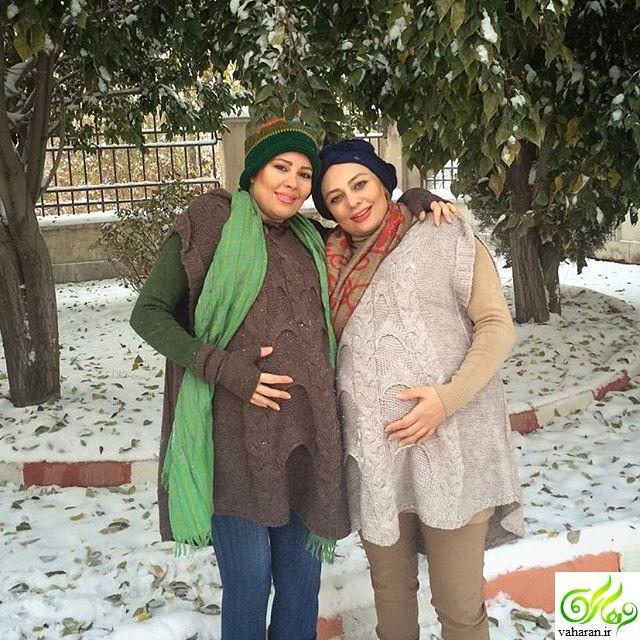 عکس باردای همزمان یکتا ناصر و خواهرش نیکتا ناصر آذر 95