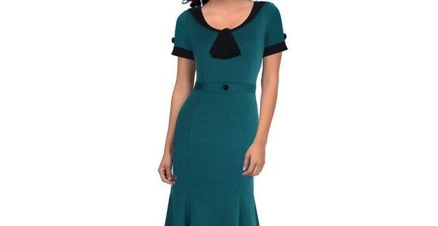 لباس پاییزی زنانه : مدل لباس مجلسی پوشیده مخصوص پاییز ۹۵