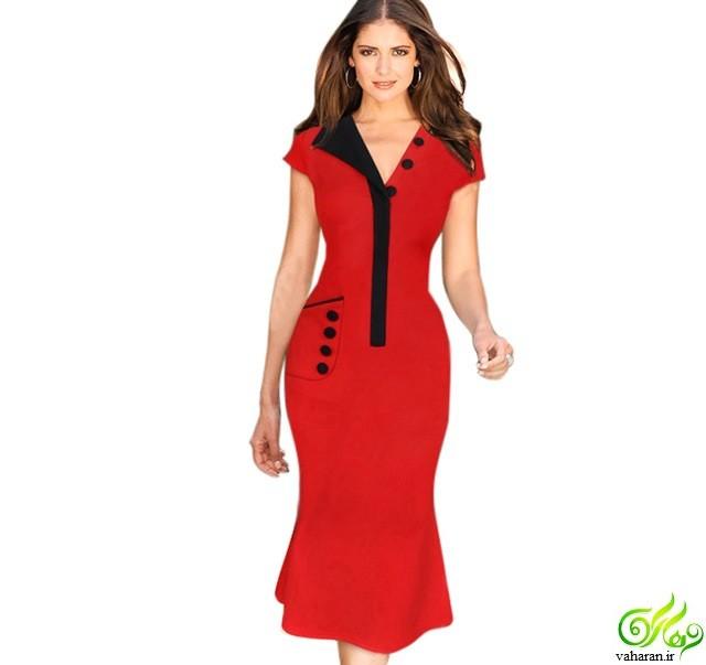 لباس پاییزی زنانه : مدل لباس مجلسی پوشیده مخصوص پاییز 95