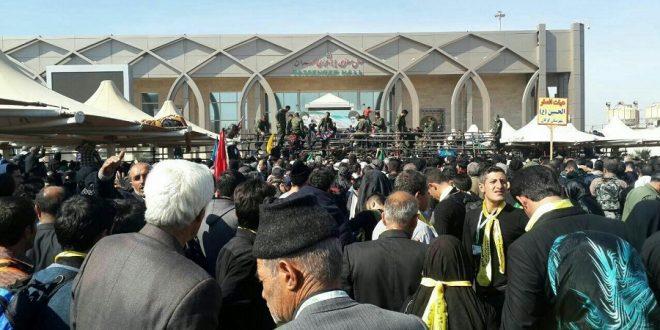 ورود زائران کربلا به ایران از مرز مهران آذر 95