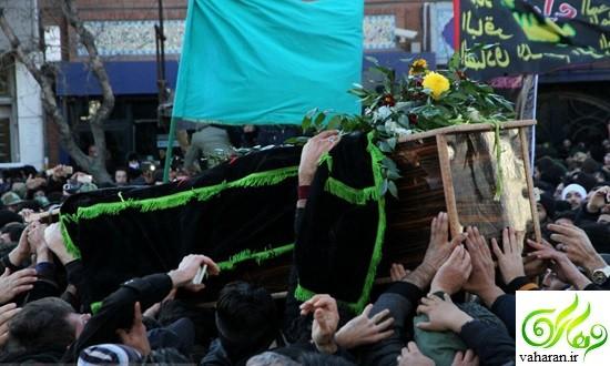 گزارش تصویری مراسم تشییع سلیم موذن زاده آذر ۹۵