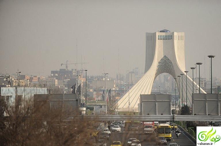 آلودگی هوای تهران از فردا شنبه 18 دی 95