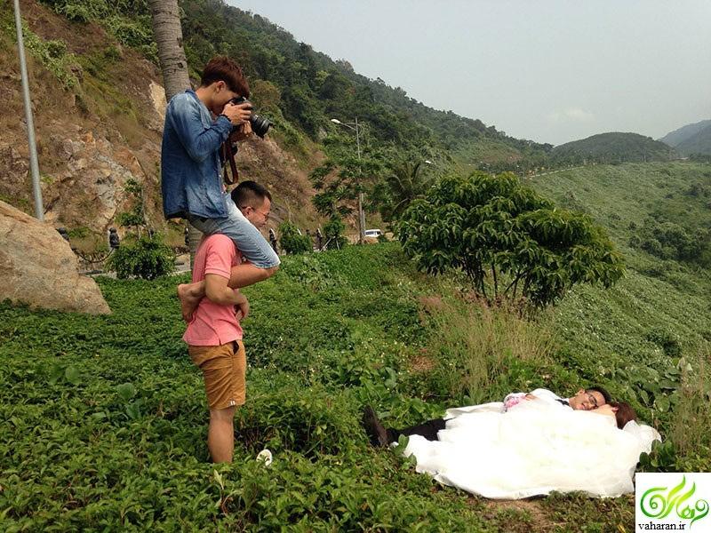 انتشار عکسهای پشت صحنه ژست عروس و داماد