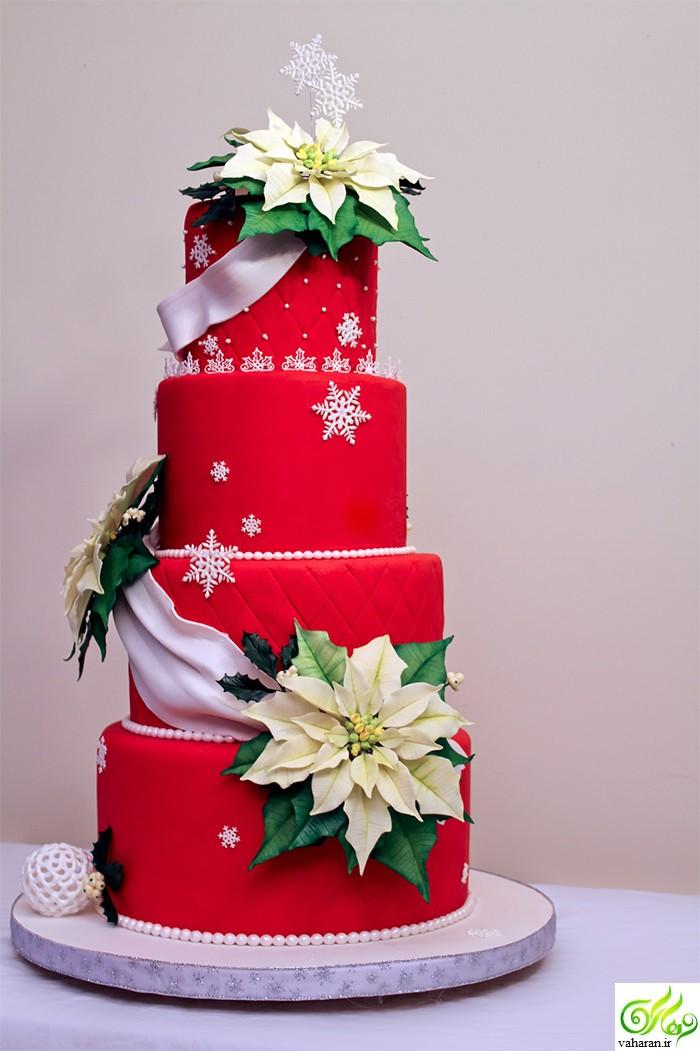 انواع مدل شیرینی و کیک کریسمس 2017