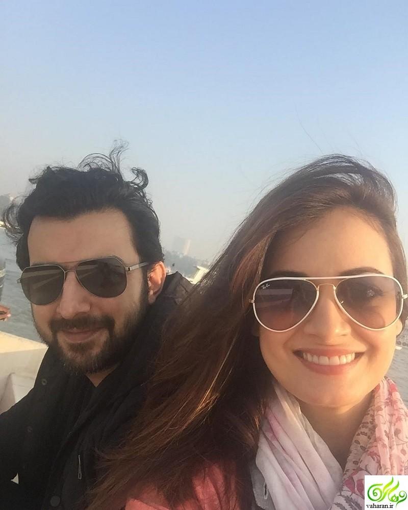 جدیدترین عکس های دیا میرزا و همسرش