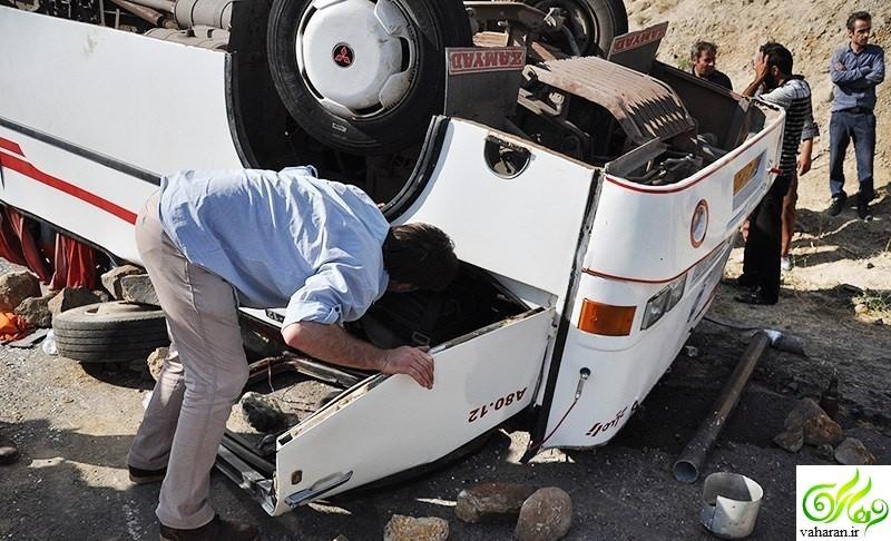 جزییات خبر واژگونی اتوبوس راهیان نور دانش آموزان گیلانی در همدان