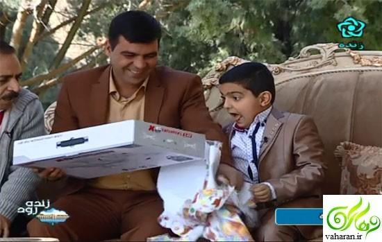 سجاد رضایی دانش آموز اصفهانی و پدرش در برنامه زنده رود + فیلم و عکس