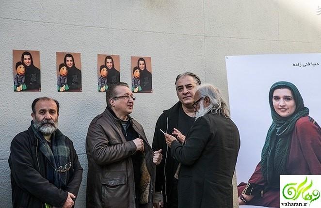 عکس های بازیگران در مراسم تشییع دنیا فنی زاده