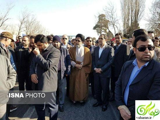 اخبار و عکس های مراسم تشییع و خاکسپاری شهدای آتش نشان پلاسکو بهمن 95