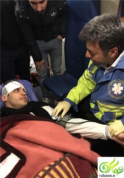 تصادف شدید علی رضوانی مجری ورزشی 20:30 + عکس