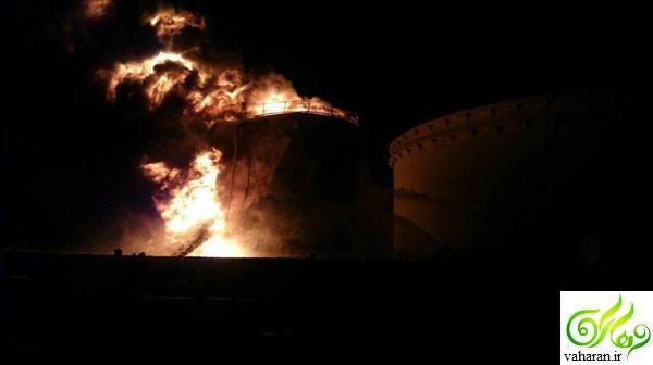 جزییات آتش سوزی پالایشگاه تهران بهمن 95 + عکس