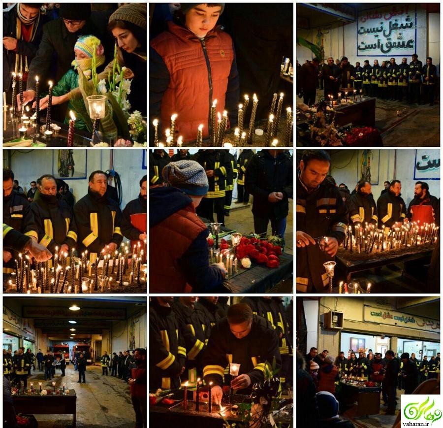 جزییات مراسم تشییع شهدای آتش نشان حادثه ساختمان پلاسکو بهمن 95