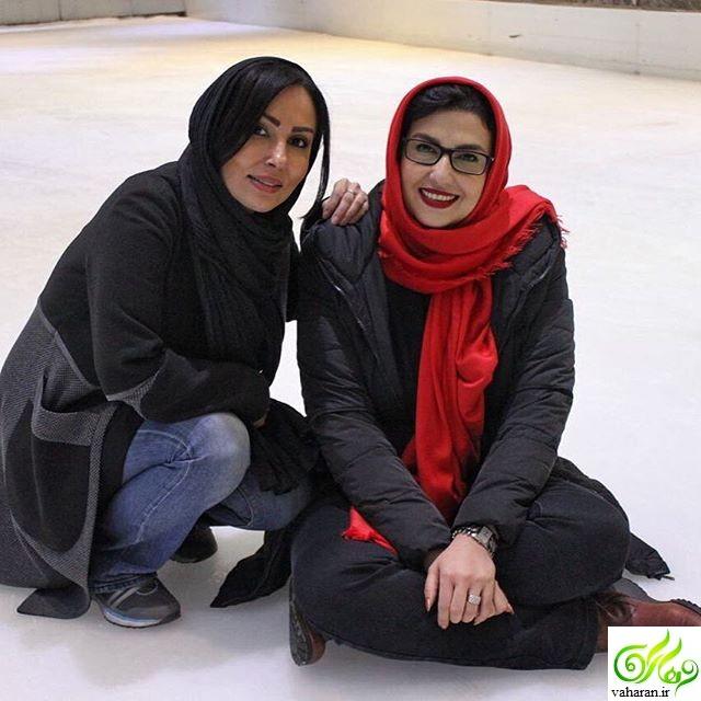 عکس جدید پرستو صالحی با رنگ موی جدید بهمن 95