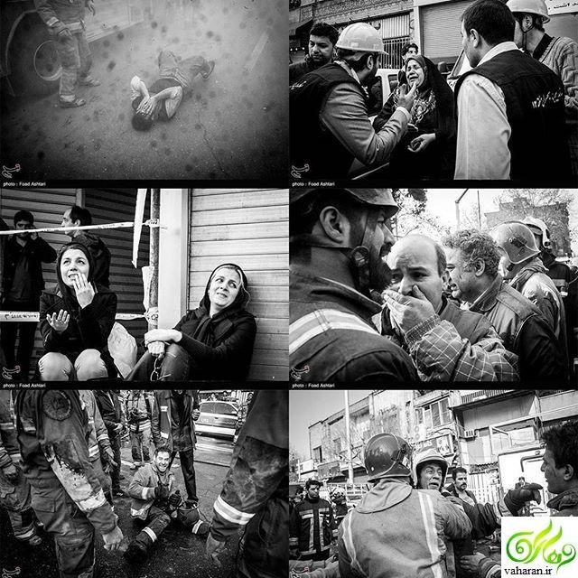 عکس شرم آور از حادثه ساختمان پلاسکو در اینستاگرام المیرا شریفی مقدم مجری خبر