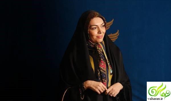 عکس های آزاده نامداری در جشنواره فجر 95 به همراه همسرش و دخترش