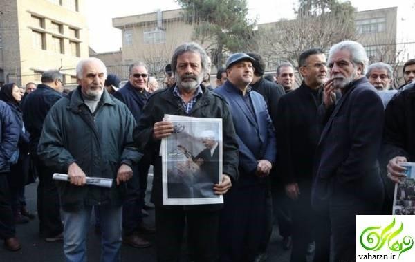 عکس های بازیگران در تشییع رفسنجانی دی 95
