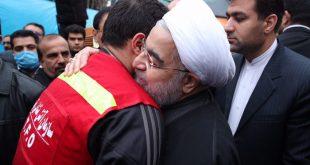 عکس های حسن روحانی در بازدید از ساختمان پلاسکو