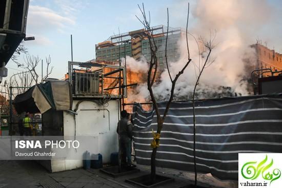 عکس های پنجمین روز حادثه پلاسکو 4 بهمن 95