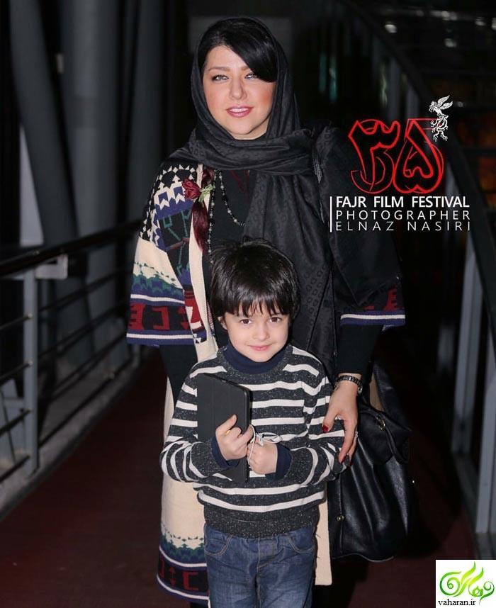عکس همسر شهاب حسینی در جشنواره فیلم فجر 95 + عکس پسرش