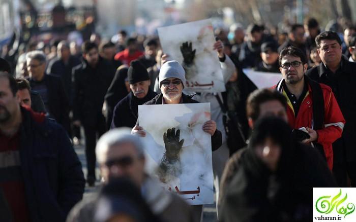 عکس: چهره ها در مراسم تشییع شهیدان آتش نشان پلاسکو
