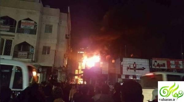 مصدومان و کشته شدگان آتش سوزی در هتل زائران ایرانی کربلا