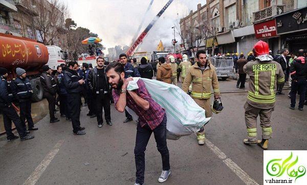 چهارمین روز حادثه ساختمان پلاسکو + عکس های جدید و درخواست مهم از مردم