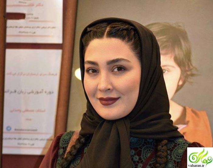 جدیدترین عکس های مریم معصومی با مدل موی بافته شده اسفند ۹۵