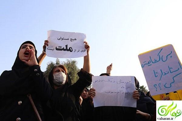 جزئیات خبر تجمع اعتراض آمیز مردم خوزستان در خیابان + عکس