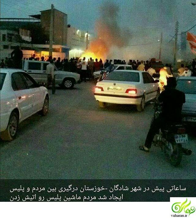 جزییات خبر درگیری مردم و پلیس در شادگان خوزستان اسفند 95 + عکس
