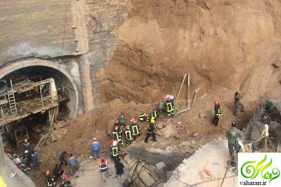 جزییات کامل ریزش تونل متروی قم + عکس