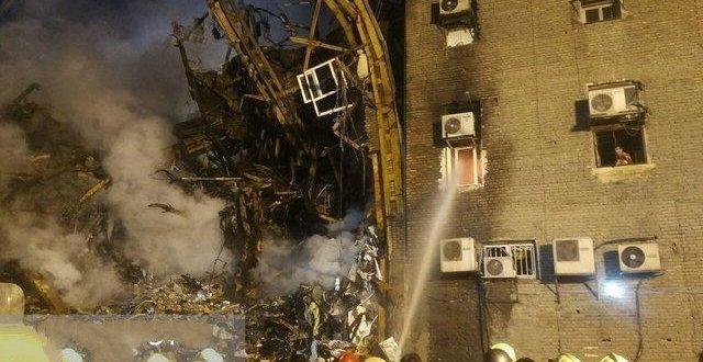 ریزش ساختمان در شهرک قدس تهران بهمن 95 + تعداد کشته شدگان و مصدومان