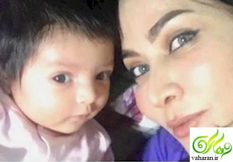 عکس اولین سلفی فقیهه سلطانی و دخترش گندم