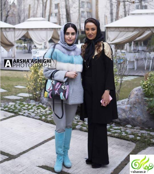عکس های بازیگران در افتتاحیه نمایشگاه دچار بهاره افشاری