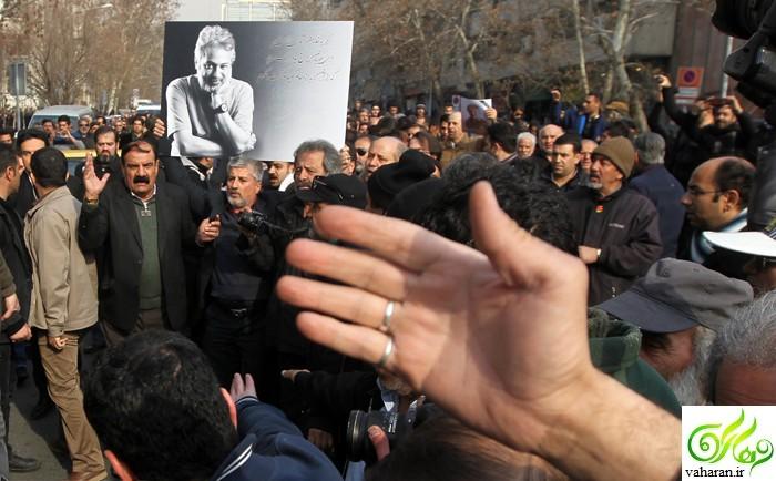 عکس های بازیگران در تشییع حسن جوهرچی بهمن 95