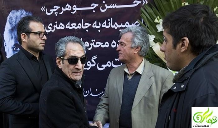 عکس هاي بازيگران در مراسم ختم حسن جوهرچي بهمن ??