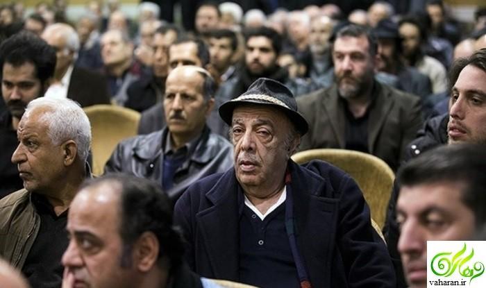 عکس های بازیگران در مراسم ختم حسن جوهرچی بهمن 95
