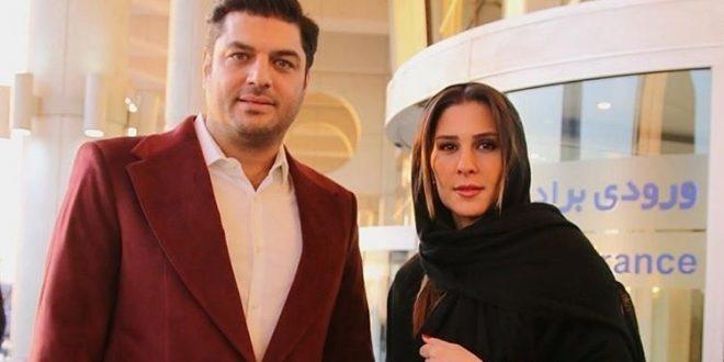 عکس های جدید سام درخشانی و همسرش در جشنواره فجر 95