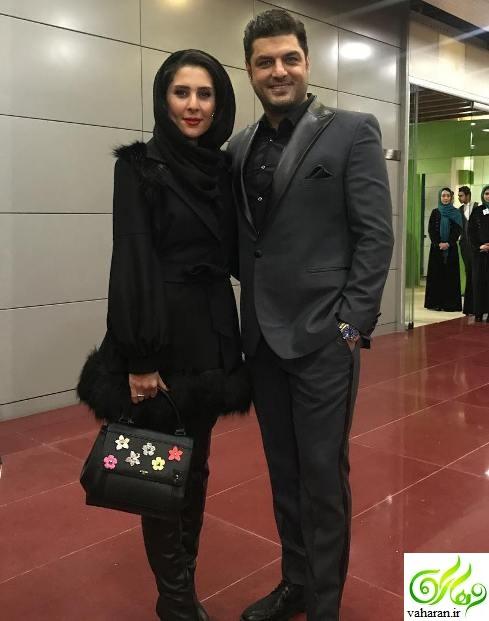عکس های جدید سام درخشانی و همسرش در جشنوراه فجر 95