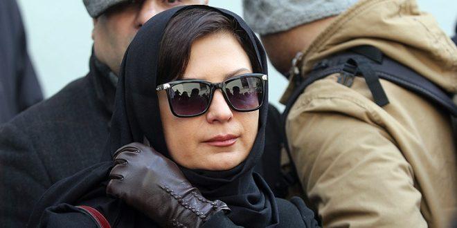 عکس های لعیا زنگنه در تشییع حسن جوهرچی بهمن 95