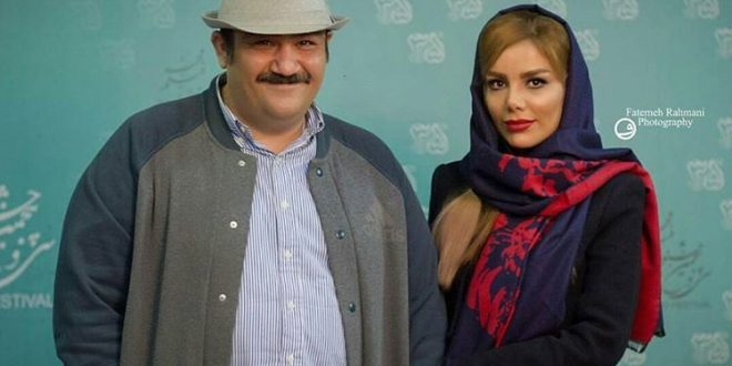 عکس های مهران غفوریان و همسرش در جشنواره فجر 95